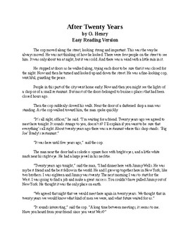 After Twenty Years - O. Henry story - Easy Reading Version + Quiz