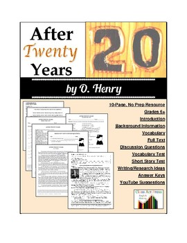 After Twenty Years: Study Guide for O. Henry's Story (10 P
