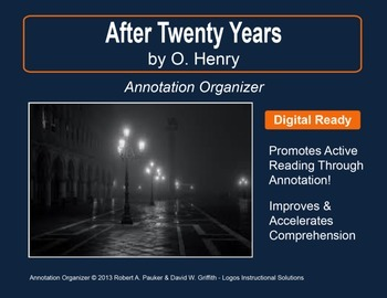 """After Twenty Years"" by O. HENRY: Annotation Organizer"