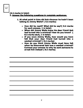 After Twenty Years by O'Henry - Analysis Worksheets and Reading Quiz