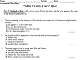 """After Twenty Years"" by O'Henry - Quiz"