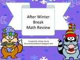 After Winter Break Math Review