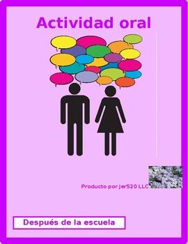 After School Activities in Spanish Info Gap