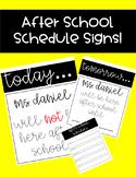 After-school Schedule Signs
