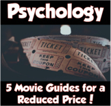Psychology Movie Bundle *5 Movie Guides for $7.99!*