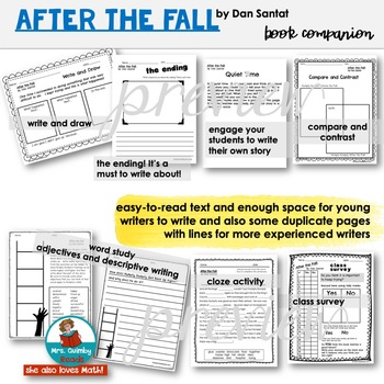 After the Fall [by Dan Santat] Book Pages and Writing Prompts