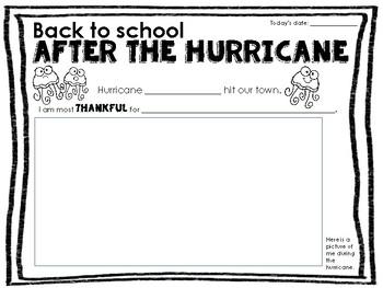 After the Hurricane Irma Harvey Reflection Writing