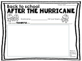 """After the Hurricane"" Reflection Writing"
