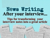 "Journalism: News Writing ""How To"" Keynote Presentation"