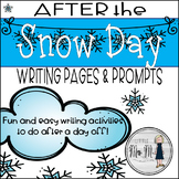 After the Snow Day Writing Templates and Simple Craftivity!