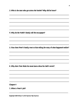 After the Train by Gloria Whelan Comprehension Questions