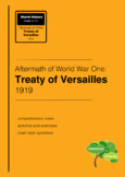 Aftermath of WWI : Treaty of Versailles 1919
