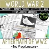 World War 2 Effects, World War 2, WW2, WWII; Distance Learning