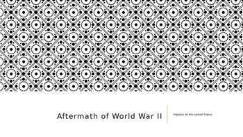Aftermath of World War II Presentation