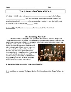 Aftermath of World War II with Docs (Inquiry)