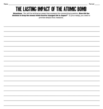 Aftermath of the Atomic Bomb: What Consequences Lingered? A WWII Investigation!