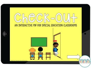 Check-Out Interactive PDF for Special Education Classrooms