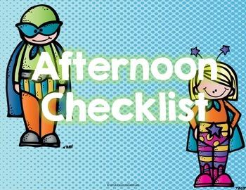 Afternoon Checklist (Superhero Edition)