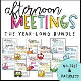 Afternoon Meetings - THE BUNDLE!