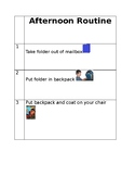 Afternoon Routine Visual Schedule