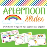 Afternoon Slides- Rainbow Theme