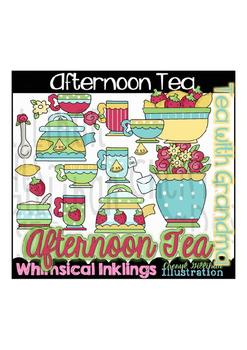 Afternoon Tea Tea with Grandma Tea with Mom Clipart Collection