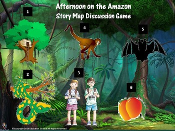 Afternoon on the Amazon (Book #6) Story Map Discussion Game