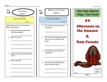 Afternoon on the Amazon & Rain Forests-A Paired Reading, Magic Tree House