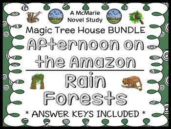 Afternoon on the Amazon   Rain Forests : Magic Tree House BUNDLE  (49 pages)