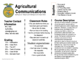 Ag Class Syllabus - Introduction to Ag Communications