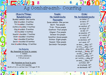 Ag Comhaireamh- Counting as Gaeilge