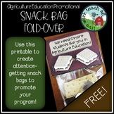 Ag Ed & FFA Promo Snack Bag Fold-Over