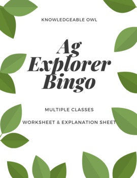 Ag Explorer Bingo