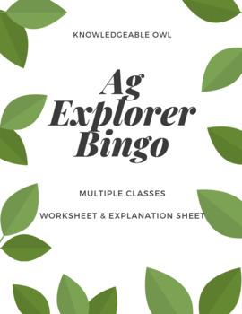 Ag Explorer Bingo Instruction Sheet