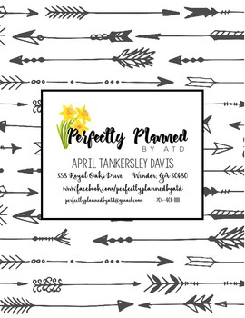 Ag Teacher Planner - Arrows (lined pages between months)