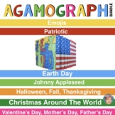 Agamograph BUNDLE (7 Sets) w/Designs for Emojis, Valentines Day & Much More!