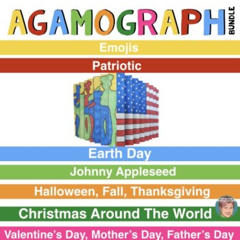 Agamograph BUNDLE (7 Sets) w/Designs for Emojis, Earth Day & Much More!