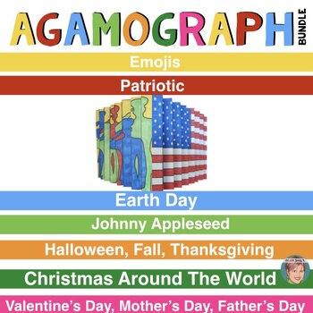 Agamograph BUNDLE (7 Sets) w/ Designs for Fall, Thanksgiving & Christmas