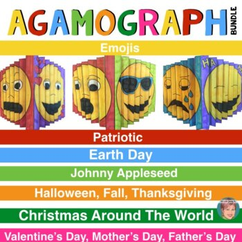 Agamograph BUNDLE (7 Sets) w/ Designs for Christmas Around the World included