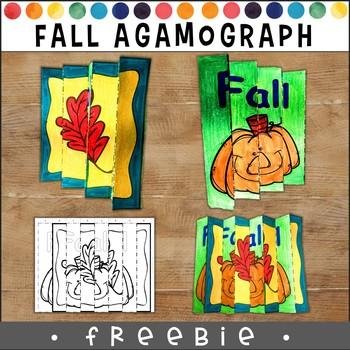 Agamograph Fall Freebie! Seasonal Bulletin Board Craft Project