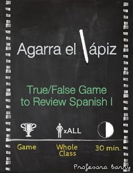 Agarra el lapiz: Partner Game to Review Spanish 1