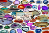 Agate Megapack - geode clipart textures, geology
