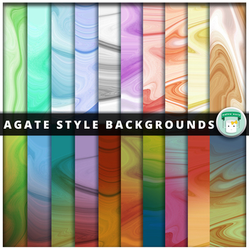 Agate Swirl Digital Paper Backgrounds