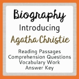 Agatha Christie Biography Informational Texts, Activities DISTANCE LEARNING
