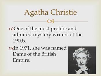 Agatha Christie Introduction PowerPoint