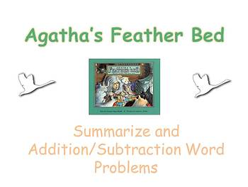 Agatha's Feather Bed Activities