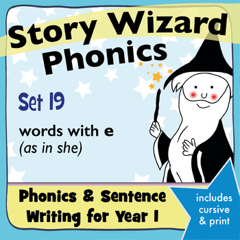 Age 4–6 Phonics & Sentences | Set 19: words with e (as in she)