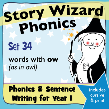 Age 4–6 Phonics & Sentences | Set 34: words with ow (as in owl)