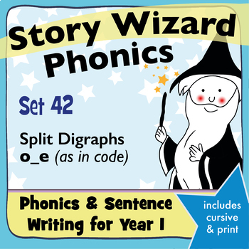 Age 4–6 Phonics & Sentences | Set 42: split digraphs o_e (as in code)