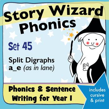 Age 4–6 Phonics & Sentences | Set 45: split digraphs a_e (as in lane)
